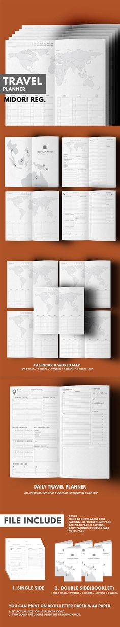 Travel Planner Are you ready to explore the world! Let this complete pack of travel planner help you track all important activity in your trip!