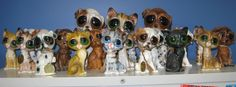 Vintage Collection of Big Eyed Pity Puppies and Kitten Figurines.