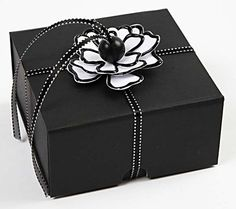 Paper flower for gift wrapping a box!!! Bebe'!!! Elegant and sophisticated gift wrap!!!