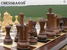Contemporary Staunton , Rosewood Triple Weight, Felted Chess Pieces