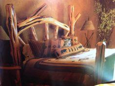Cool log bed frame
