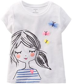 online shopping for Carters Baby Clothing Outfit Girls Butterfly Girl Tee T-shirt Ivory from top store. See new offer for Carters Baby Clothing Outfit Girls Butterfly Girl Tee T-shirt Ivory T Shirt Painting, Fabric Painting, Baby Design, Tee Design, Paint Shirts, Fabric Paint Shirt, Girls Tees, Girls 4, Toddler Girls