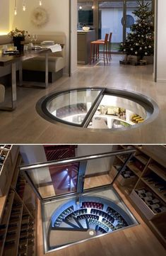 Underground Spiral Wine C - Haus How to Crafts Underground Spiral Wine Cellar Store all your favorite wines like a Debonair secret agent in the underground spiral cellar. A must for serious wine conno Spiral Wine Cellar, Home Wine Cellars, Wine Cellar Design, House Goals, Dream Rooms, Home Deco, Home Interior Design, Bar Interior, Future House