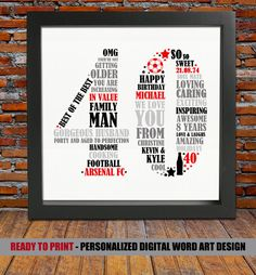Personalized 40th Birthday Gift for Him - 40th birthday, 40th birthday gift…