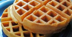 """""""Waffle of Insane Greatness"""" - from Food Network - turned out PERFECT - did not stick at all. Double batch made 4 Belgian waffles. Breakfast And Brunch, Breakfast Dishes, Breakfast Recipes, Best Waffle Recipe, Waffle Maker Recipes, Best Belgian Waffle Recipe, Belgian Waffle Recipe Food Network, Hotel Waffle Recipe, Best Waffle Mix"""