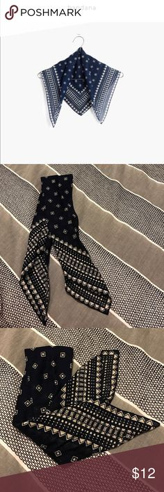"""Madewell bandana Brand new and never used. Cotton. 21 7/10""""L x 21 7/10""""W. Dry clean. Madewell Accessories Scarves & Wraps"""
