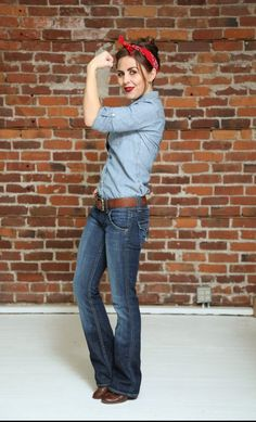 Rosie the Riveter is a great way to show your strength this Halloween at the office.