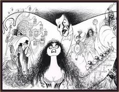 "Al Hirschfeld ~ Original Broadway Cast for ""Phantom of the Opera"""