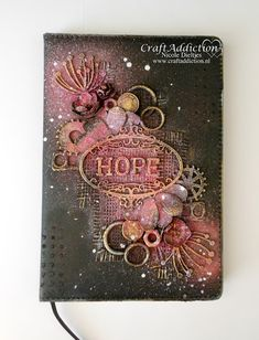 Mixed Media notitieboekje met Ink Sprays van CraftEmotions