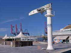 12.5 t capacity, 7 m arm and 8 m HOL marine Jib crane installation. Client: Club Deportivo del Mediterráneo Installation Location: Málaga GH Cranes & Components