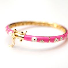 Piccolini NYC - Hot Pink Bangle with White Flowers, $35.00 (http://www.lovepiccolini.com/hot-pink-bangle-with-white-flowers/)