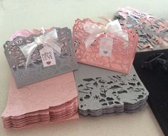 Detailed Floral thinlits for 80th birthday favours. Stampin Up! www.keepstamping.com