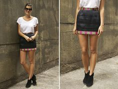 DIY skirt with tribal trim