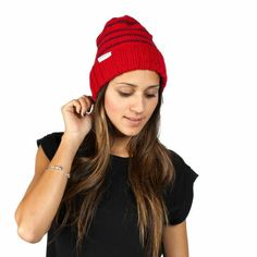 Upgrade your winter wardrobe with this soft, striped beanie. Shop 'the Cara' | Krochet Kids intl.