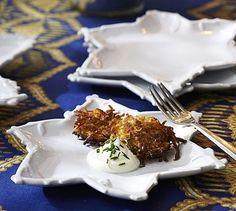Star of David Branch Salad Plates & Serving Platter Available @ Pottery Barn