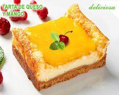 tarta de queso con mango