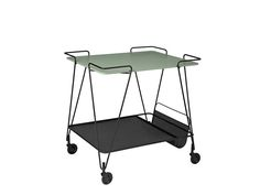Designed by Mathieu Matégot for Gubi, this is a functional and playful metal tea trolley that can also be used to store your newspaper. Serving Trolley, Tea Trolley, Bureau Design, Cool Furniture, Modern Furniture, Contemporary Design, Modern Design, Vitra Design Museum, Muuto