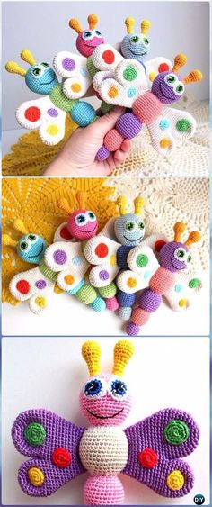 Crochet Baby Rattle Butterfly Free Pattern - Crochet Butterfly Free Patterns [Picture Instructions]