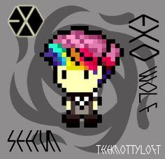 kpop hama beads - Google Search