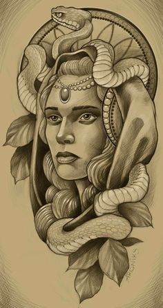Girl Face Tattoo, Girl Face Drawing, Tattoo Sketches, Tattoo Drawings, Art Sketches, Medusa Tattoo Design, Tattoo Designs, Forearm Cover Up Tattoos, Calligraphy Tattoo Fonts