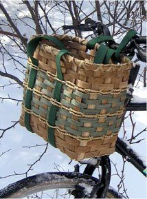 One day I'll try to DIY my own bike basket with a wicker basket and belts.