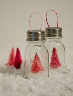 Shabby Salt Shaker Ornaments  - CountryLiving.com