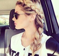 Image via We Heart It #blonde #braid #girl #girly #girlythings #hair #hairstyle #cute