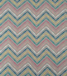 Doodles Collection- Interlock Chevron Multi Gray Fabric
