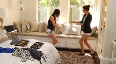 love the window seating Master Bedroom Bathroom, Master Room, Home Bedroom, Bedroom Ideas, Bedroom Inspiration, Bedroom Decor, Kendall Jenner Bedroom, Kylie Jenner, Barbie Malibu Dream House