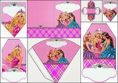 Barbie Escuela de Princesas: Imprimibles y Caja Abierta Gratis para Fiestas.