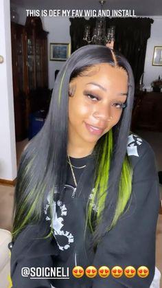 Slick Hairstyles, Baddie Hairstyles, Black Girls Hairstyles, Weave Hairstyles, Curly Hair Styles, Natural Hair Styles, Edges Hair, Colored Wigs, Dyed Natural Hair