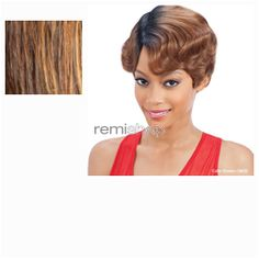 Equal (SNG) In Style Wig Bessie  - Color OM27 - Synthetic (Curling Iron Safe) Regular Wig