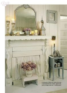 1000 images about fireplaces on pinterest shabby chic for Cheminee shabby chic