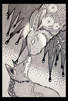 The Night Rabbit and the Dream Fox by Ravenari