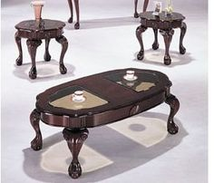 Classic Canebury Cherry Finish Coffee Table Set Acs80195 by click 2 go. $699.99. some assembly maybe required.