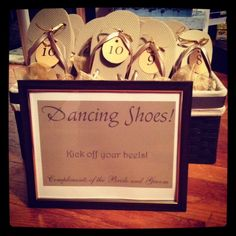 tags for wedding flip flops