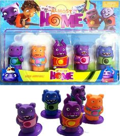 Lovely Cute Movie Home Boov Oh Kids Dolls Action Figures 3-4cm PVC Toys Set Luo#