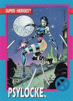 Psylocke - 1992 Marvel & Super Heroes by Impel (art by Jim Lee)
