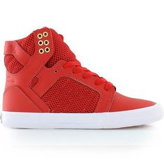 Supra Womens Skytop Red/Gold-White