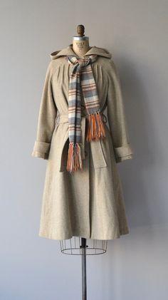 Hartfield Tweed coat vintage 1970s tweed coat 70s by DearGolden