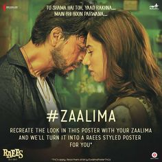 Arijit Singh Song Zaalima Lyrics - Raees Movie Song; Zaalima From: Raees by Arijit Singh, Harshdeep Kaur · 4:59 Released Dec 23, 2016 © 2016 Zee Music Co. (Arijit Singh Song Zaalima Lyrics)   #Arijit Singh Song Zaalima Lyrics #lyrics of Arijit Singh Song Zaalima #zaalima arijit singh lyrics #zaalima raees movie song lyrics Movie Songs, Hollywood Celebrities, Song Lyrics, That Look, How To Apply, Shahrukh Khan, Reading, Music, Movie Posters