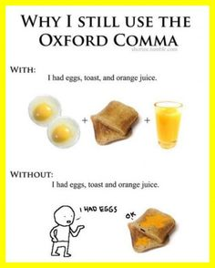 My thoughts exactly! I don't who started teaching people NOT to use it, but it's a little ridiculous if you ask me! When I'm a teacher the Oxford comma will ALWAYS be in use!!