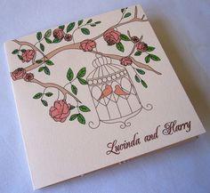 Beautiful Birdcage Wedding Invitation £2.25