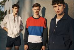 Spanish brand Mango takes its spring-summer 2017 campaign stateside. Photographer Matteo Montanari connects with models Kit Butler, Adrien Sahores, and Matthew Holt in Miami, Florida for the advertisement. A certain casualness pervades the outing with lightweight sweaters, relaxed trousers, pleated shorts, and camp collared shirts. Additional highlights range from color blocked sweatshirts to utility jackets.... [Read More]