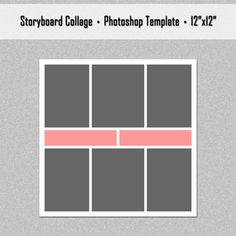 X Storyboard Template  Weeks Project Photo Collage