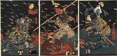 Kuniyoshi (Triptych) - The Last Stand