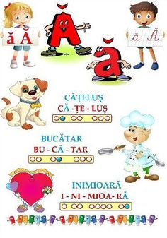Worksheets For Kids, Activities For Kids, Crafts For Kids, Early Education, Kids Education, Romanian Language, Teacher Supplies, Learning The Alphabet, Kids And Parenting