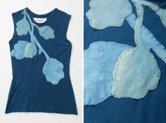 As we continue to add one-of-a-kind Indigo garments to our current collection, we also share our sources of inspiration. Our hand dyed Indigo Shell Top made me think of artist Miya Ando's installation of bioluminescent leaves floating on a pond. Learn more on our Journal.