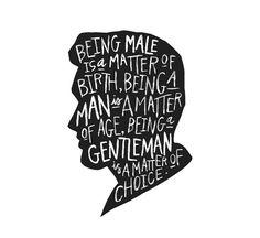 Be a Gentleman  8x10 art print by IkeStudio on Etsy, $12.00