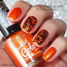The 31 Day Challenge 2014: 02. Orange nails #31DC2014